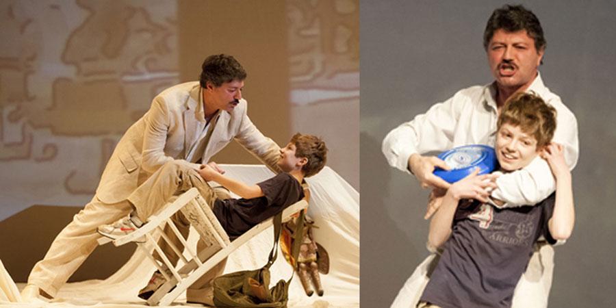 """Una scena di """"Per questo mi chiamo Giovanni"""" con Stefano Messina e Pietro Messina"""
