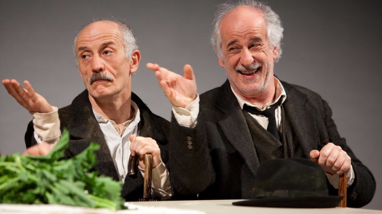 Peppe e Toni Servillo in scena