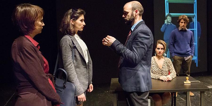 Foto di Giovanni Chiarot. Da sx Laura Nardi, Rita Brütt, Amândio Pinheiro, Deniz Özdogan, Fabrizio Lombardo