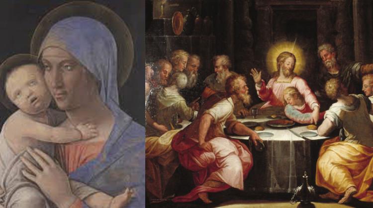Madonna col Bambino Mantegna - L'ultima cena Vasari