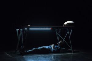 Tiziano Panici in Presunta morte naturale. Foto di Valeria Collina