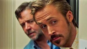 Russell Crowe e Ryan Gosling in una scena