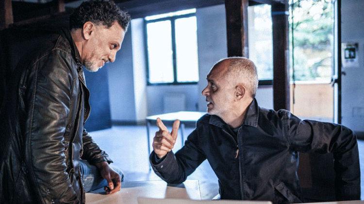 """Raffaele Gangale e Paolo Zuccari in """"Acque Sporche"""" (ph. Tiziana Tomasulo)"""