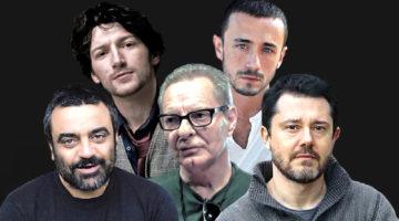 da sinistra, in basso Massimiliano Civica, Enzo Moscato, Marco Cavalcoli; in alto Angelo Di Genio, Francesco Martino