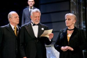 Mattia Sbragia, Luciano Virgilio, Ivana Monti (ph. Marco D'Elia)