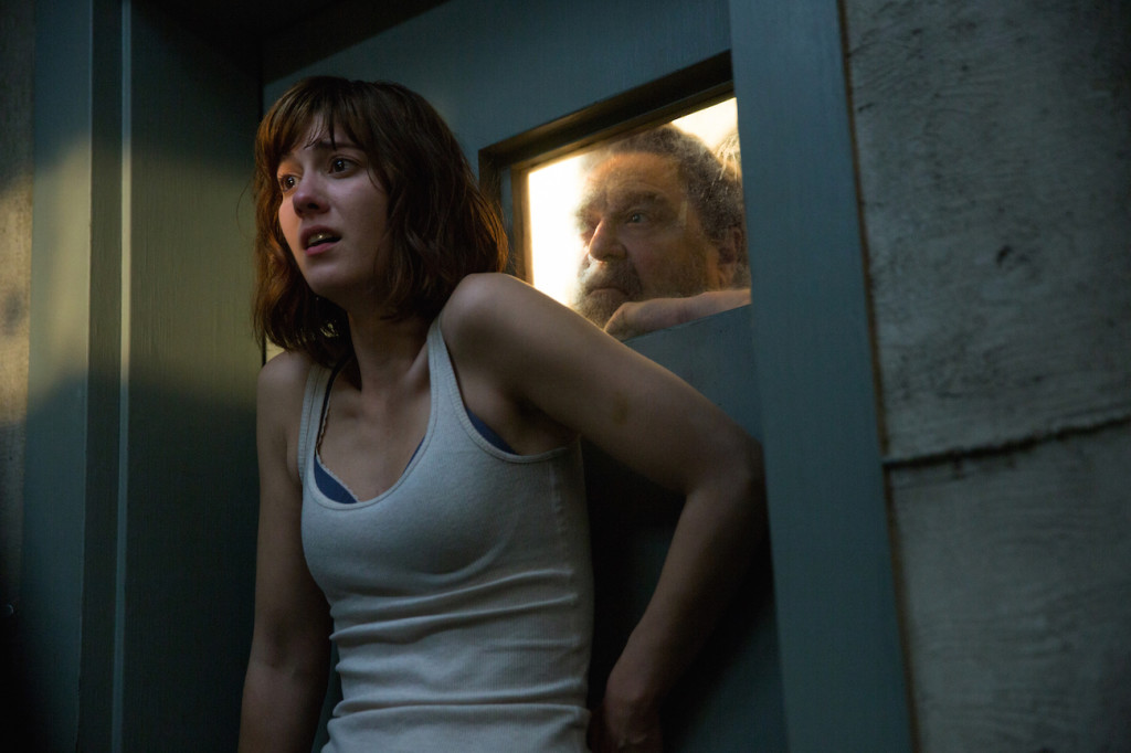 Mary Elizabeth Winstead as Michelle and John Goodman as Howard in 10 CLOVERFIELD LANE; by Paramount Pictures