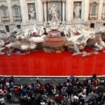 Graziano Cecchini, Fontana di Trevi rossa, 2007