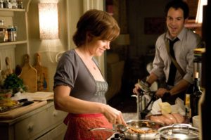 "Amy Adams as ""Julie Powell"" and Chris Messina as ""Eric Powell"" in Columbia Pictures' JULIE & JULIA."