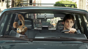 In ?Hop?, the new live action/CG-animated comedy from the producers of Despicable Me and the director of Alvin and the Chipmunks, out-of-work slacker Fred (JAMES MARSDEN) has found himself with the world?s worst houseguest: E.B. (voiced by RUSSELL BRAND), the teenage son of the Easter Bunny.