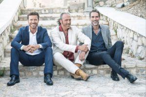 Paolo Conticini, Luca Ward e Sergio Muniz (ph. Gianluca Sarago)